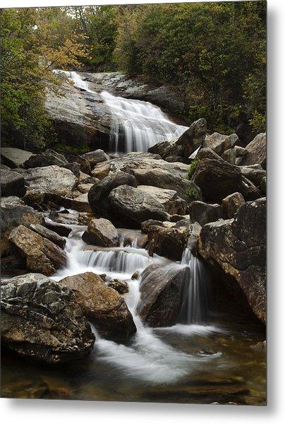 Second Falls - Blue Ridge Falls Metal Print