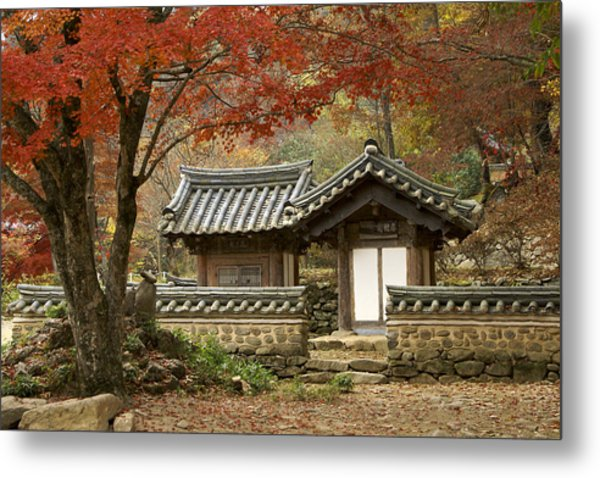 Seonamsa In Autumn Metal Print