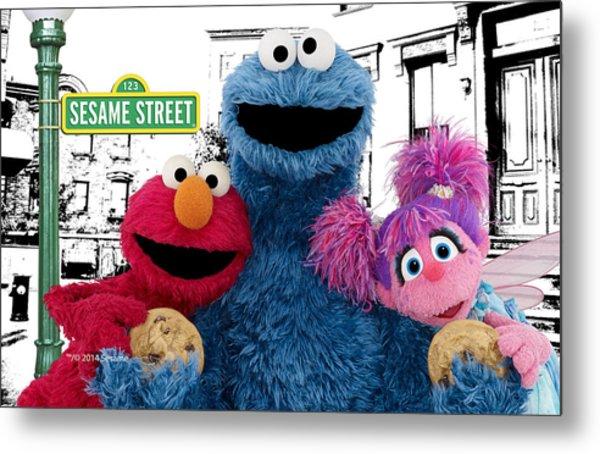 Sesame Street Metal Print