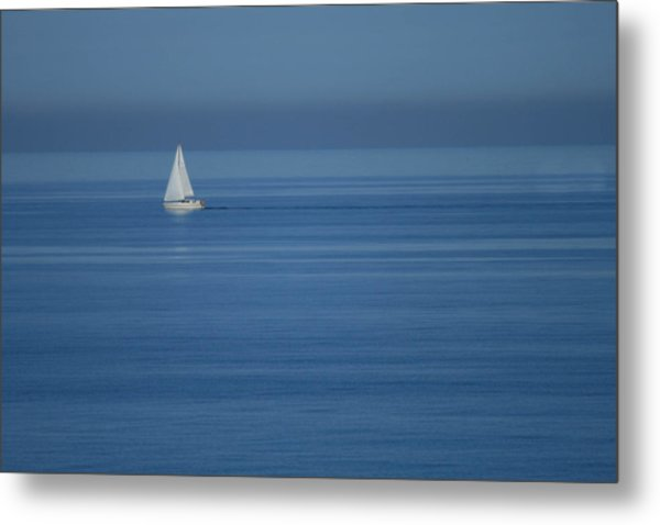 Sky Blue Metal Print by Marta Grabska