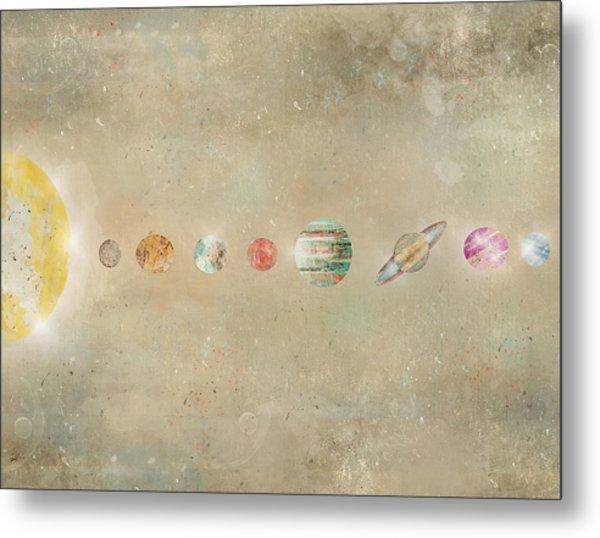 Solar System Metal Print