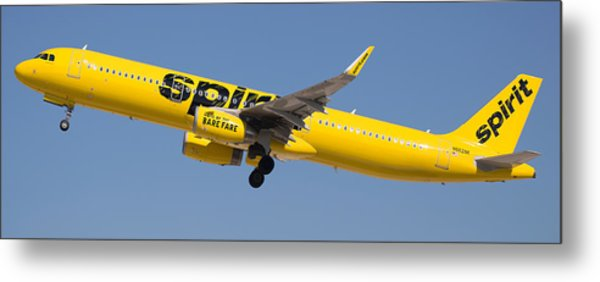 Spirit Airline Metal Print