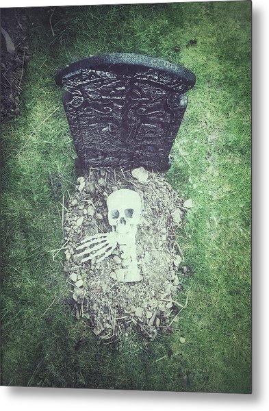 Spooky Grave Stones Metal Print