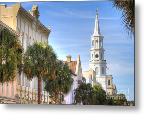 St Michaels Church Charleston Sc Metal Print