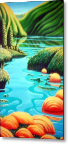 Stepping Stones Metal Print by Barbara Stirrup