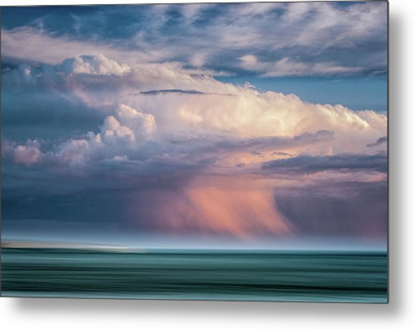 Storm On The Sound Metal Print