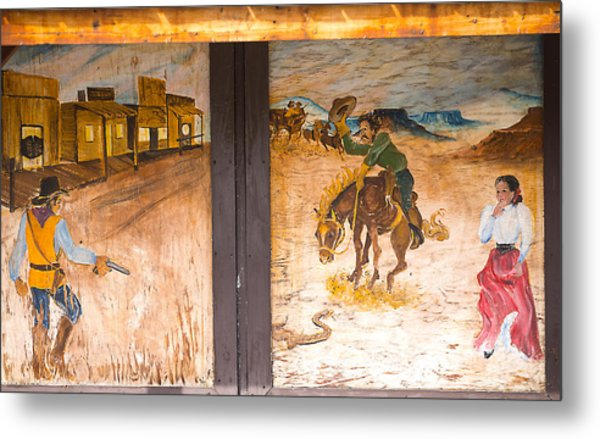 Metal Print featuring the photograph Street Art - Melba, Id by Dart and Suze Humeston