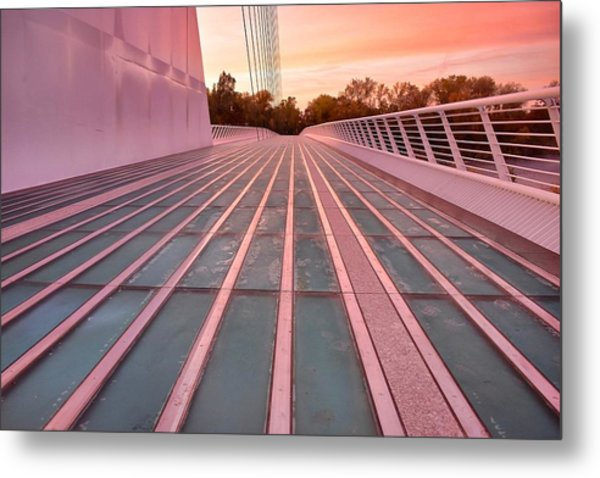 Sundial Bridge Metal Print