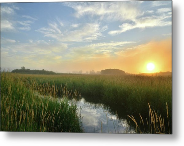 Sunrise At Glacial Park Metal Print