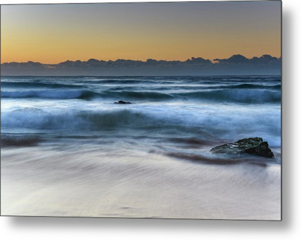 Sunrise By The Sea Metal Print