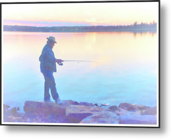Sunrise Fisherman Metal Print