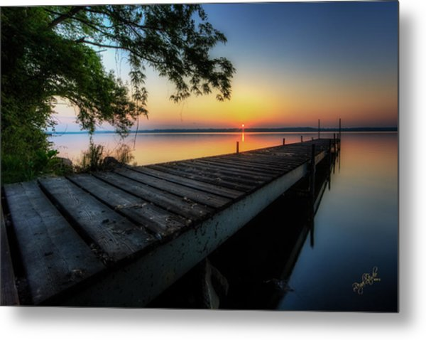 Sunrise Over Cayuga Lake Metal Print