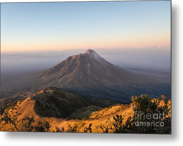 Sunrise Over Java In Indonesia Metal Print