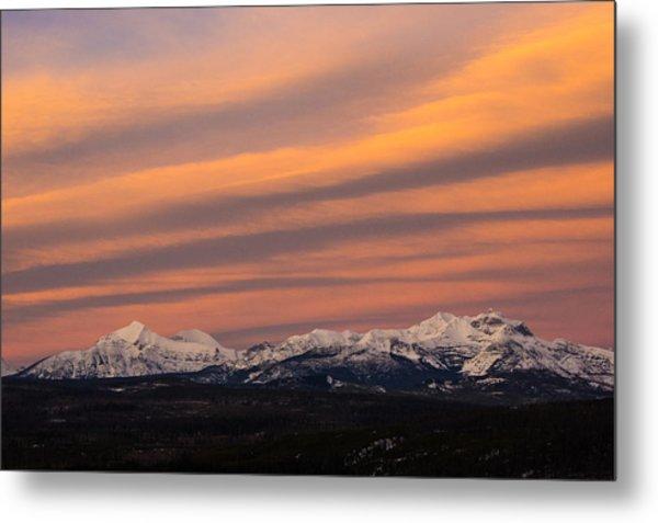 Sunset In Glacier National Park Metal Print