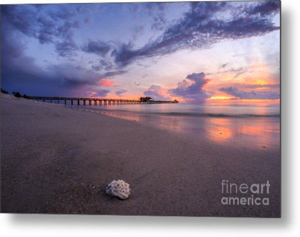 Sunset Naples Pier Florida Metal Print