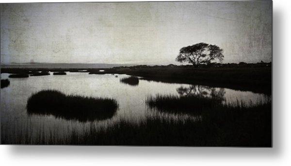 Texas City Wetlands Sunset Metal Print