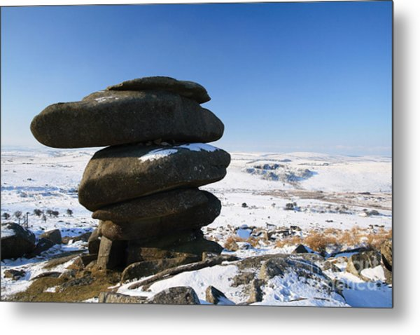 The Cheesewrings Metal Print by Carl Whitfield