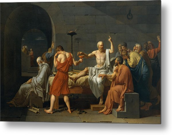 The Death Of Socrates Metal Print