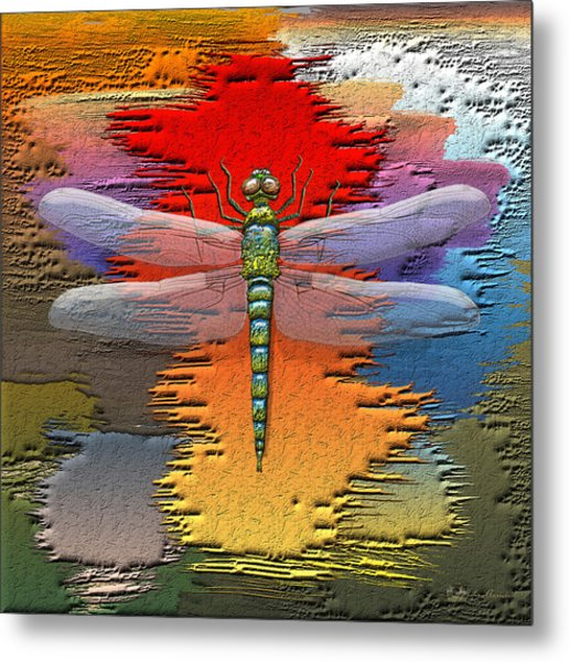 The Legend Of Emperor Dragonfly Metal Print