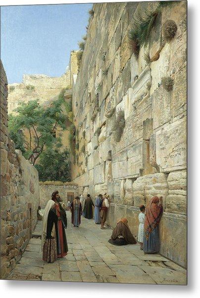 The Wailing Wall, Jerusalem Metal Print