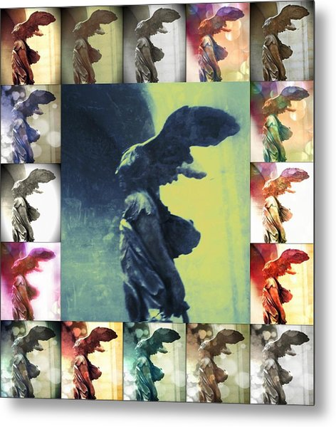 The Winged Victory - Paris - Louvre Metal Print