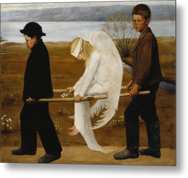 The Wounded Angel Metal Print