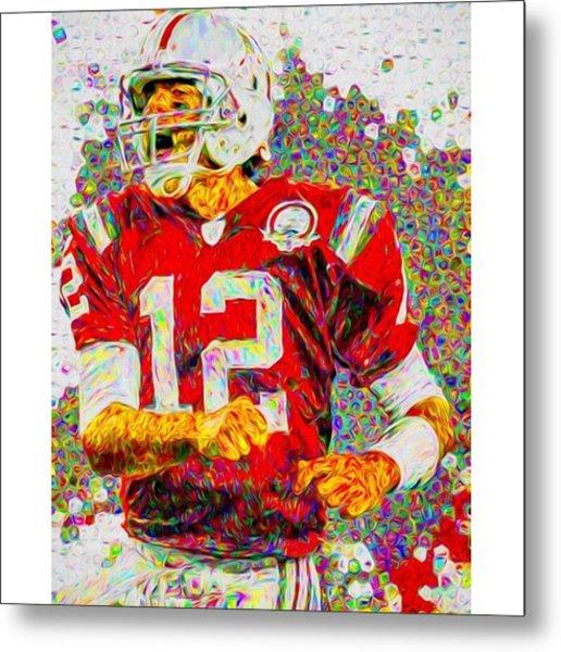 Tom Brady. University Of Michigan Metal Print