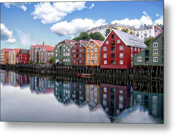 Trondheim Coastal View Metal Print