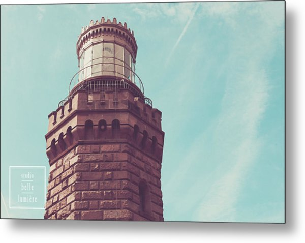 Twin Lights Lighthouse Atlantic Highlands New Jersey Metal Print by Erin Cadigan