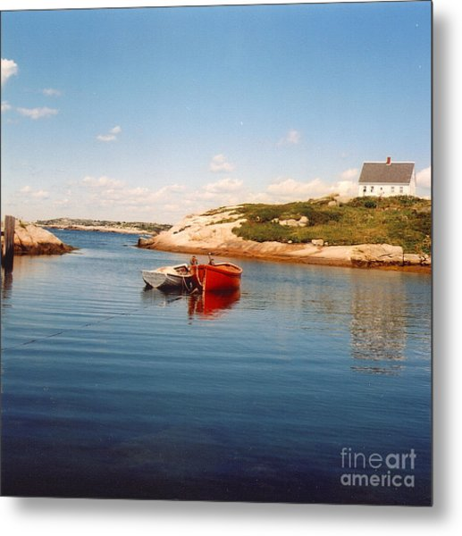 Two Boats Metal Print by Andrea Simon