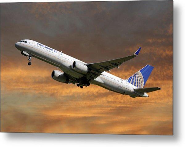 United Airlines Boeing 757-224 Metal Print