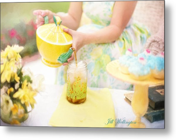 Vintage Val Iced Tea Time Metal Print