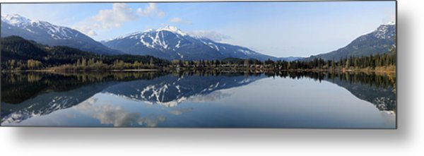 Whistler Blackcomb Green Lake Reflection Metal Print