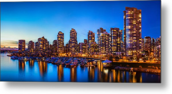 Yaletown From Cambie Bridge Metal Print