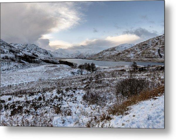 Trossachs Scenery In Scotland Metal Print