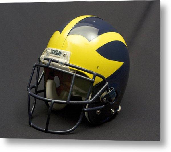Metal Print featuring the photograph 2000s Era Wolverine Helmet by Michigan Helmet