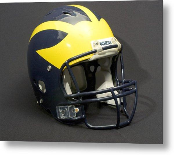 Metal Print featuring the photograph 2000s Wolverine Helmet by Michigan Helmet