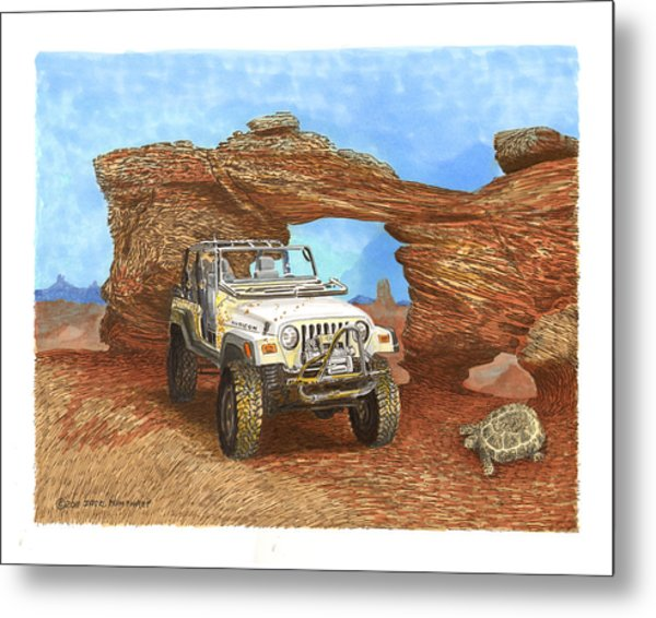 2005 Jeep Rubicon 4 Wheeler Metal Print