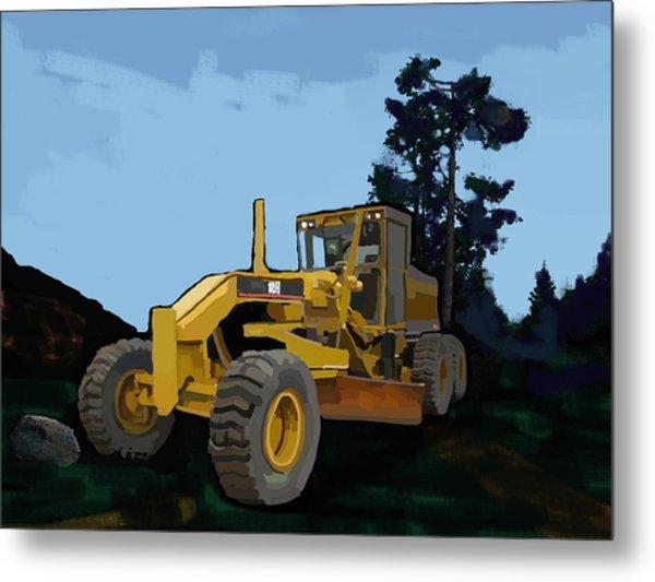 2006 Caterpillar 12h Vhp Plus Motor Grader Metal Print