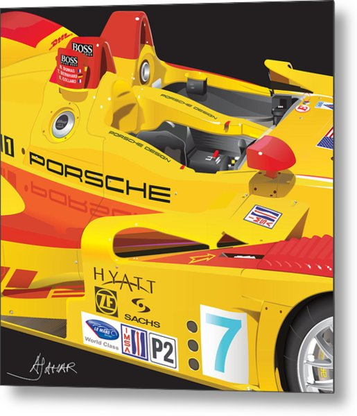 2008 Rs Spyder Illustration Metal Print