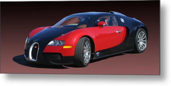 2010 Bugatti Veyron E. B. Sixteen Metal Print