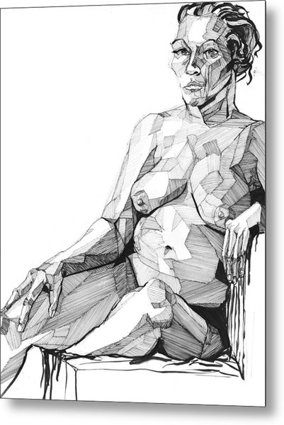 Metal Print featuring the drawing 20140113 by Michael Wilson