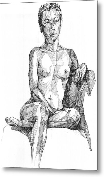 Metal Print featuring the drawing 20140115 by Michael Wilson