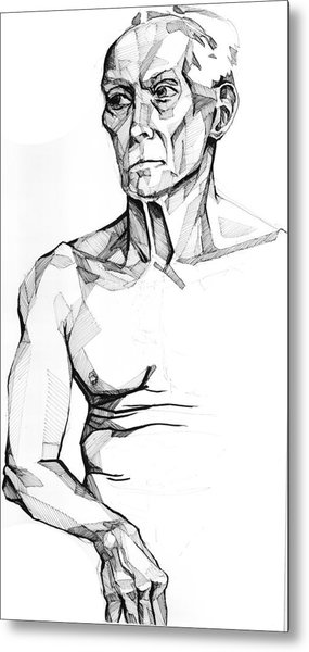 Metal Print featuring the drawing 20140118 by Michael Wilson