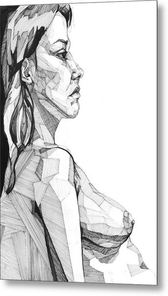 Metal Print featuring the drawing 20140120 by Michael Wilson