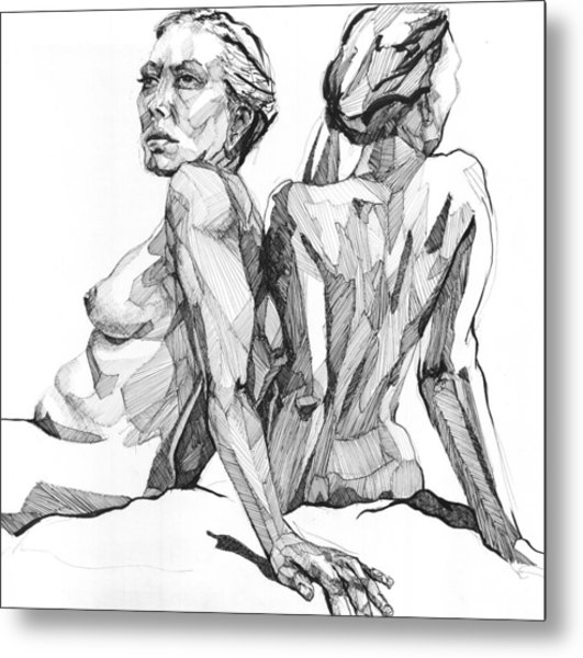 Metal Print featuring the drawing 20140123 by Michael Wilson