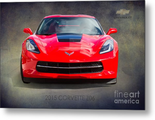 2015 Corvette Z06 By Darrell Hutto Metal Print