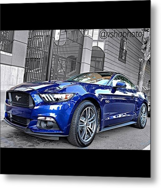 2015 #ford Mustang Gt 5.0l V8 Engine Metal Print