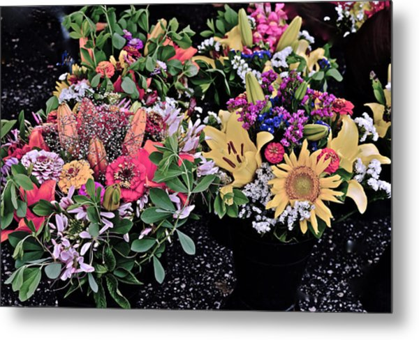 2015 Monona Farmers Market Flowers 1 Metal Print