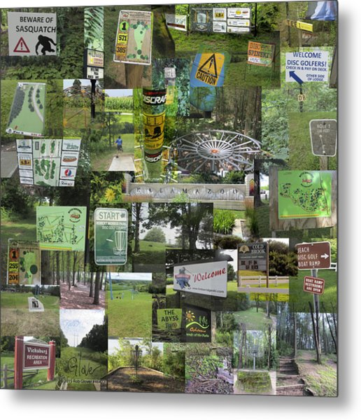 2015 Pdga Amateur Disc Golf World Championships Photo Collage Metal Print
